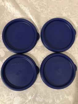 Tupperware Set Of 4 Snack Cups Bell & 16 Oz Tumbler Seals Li