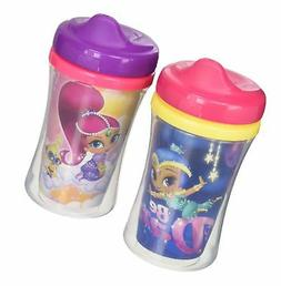 NUK 2 Piece Shimmer & Shine Insulated Hard Spout Cup, 9 Ounc