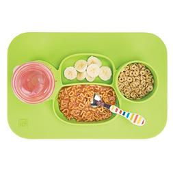 mDesign Silicone Mealtime Plate and Placemat for Babies, Tod