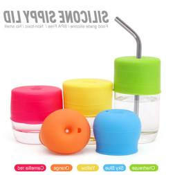 Silicone Sippy Cup Lid Straw Cover for Water Bottle Baby Tod