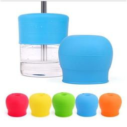 Silicone Sippy Cup Lid Straw Spill-Proof Cup Cover for Water