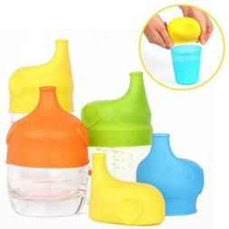 Silicone Sippy Cup Lids Kid Toddler Spill Proof Trainer Bott