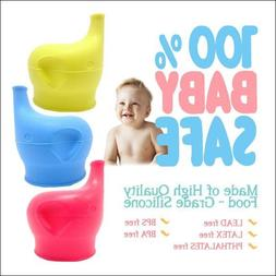 Silicone Sippy Cup Lids Kids Toddler Spill Proof Trainer Bot