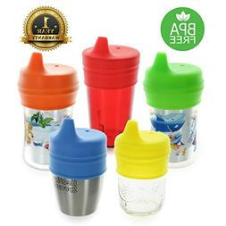 Healthy Sprouts Silicone Sippy Lids  - Lab Tested, Spill Pro