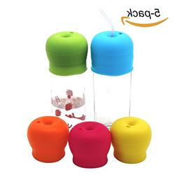 PickUrStyle Silicone Straw Cup Lids for Toddlers Babies  -BP