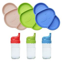 Silicone Suction Plates for Toddlers – with Baby Silicone