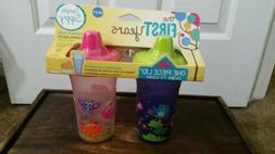 The First Years Simple Sippy Cup - 9oz, 2 Pack, Pink and Pur