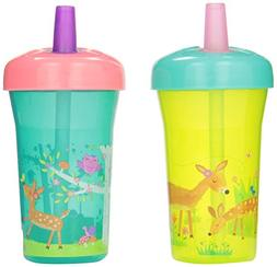 The First Years Simple Straw Cup - 9oz, 2 pack, Green Deer