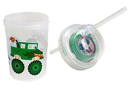 Sip & Spin Fun Straw Cup, Monster Trucks Race When You Drink