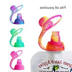 ChooMee Sipn Food Pouch Toppers | 4 CT | Sorbet Swirl Color