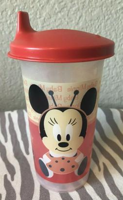 sippy cup bell tumbler minnie mouse red