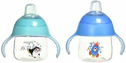 2 Pcs Avent Sippy Cup Leak Proof Easy Grip Anti-Slip For Tod