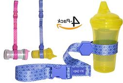HnyBaby Sippy Cup Straps  Toddler Drink and Baby Bottles Hol