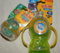 Sippy Cup Teether Nuby Sipeez No Spill Set Lot BPA Free 8 oz