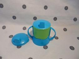 Tupperware  Sippy Cup with Handles & Cover Baby Toddler Blue