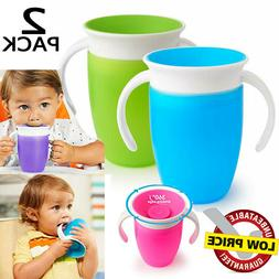 Sippy Cups for Toddlers Learner Drink Bottle with Two Handle