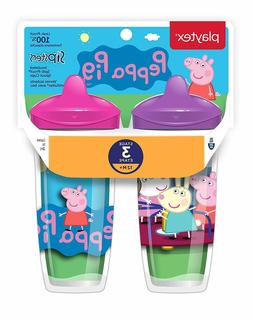 Playtex Sippy cups Stage 3 Peppa Pig Spill-Proof, Leak-Proof