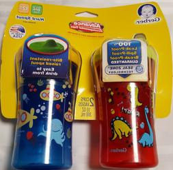 New Sippy Pack of 2 Nuk Gerber color vary Advance Hard Spout