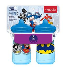 Playtex Sipsters Stage 2 Super Friends Spill-Proof, Leak-Pro