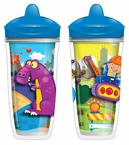 Playtex Sipsters Stage 3 Insulated Spout Sippy Cups for Boys