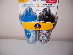 Playtex sipsters stage 3 milk water sippy cup new