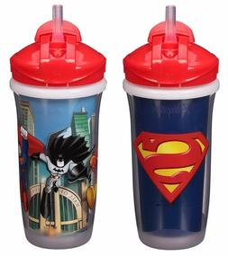 Playtex Sipsters Stage 3 Super Friends Straw Sippy Cups for