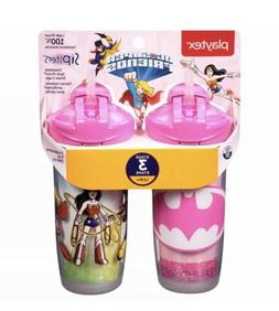 Playtex Sipsters Stage 3 Super Friends Spill-Proof, Leak-Pro