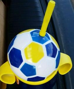 Soccer ball futbol sippy cup holiday So Cute! toddler drinks