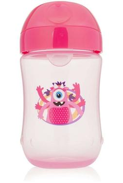 Dr. Brown's Soft-Spout Toddler Cup,  9 oz , Monster Pink, Si