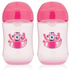 Dr. Brown's Soft-Spout Toddler Cup, 9 oz , Monster Pink, 2 C