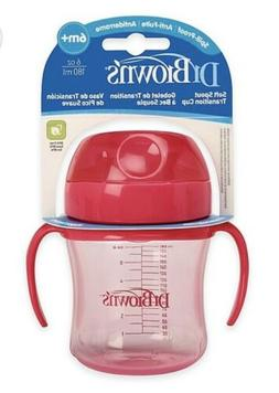 Dr. Brown's 6 Ounce Soft Spout Transition Cup - Pink