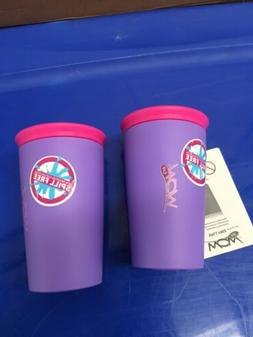 Spill Proof Cup Wow Cup Boys& Girls 2 Pack, Purple & Pink