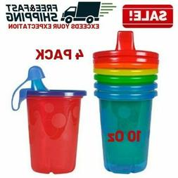 Spill Proof Sippy Cup Plastic Travel Cap Kids Toddler Feedin