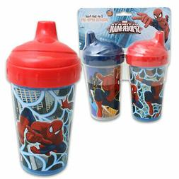 2pk Spill Proof Marvel Spiderman 10oz Sippy Cups Toddler Kid