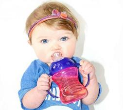 Nuby No-Spill Super Spout Grip N' Sip, Red and Blue, 4 Plus