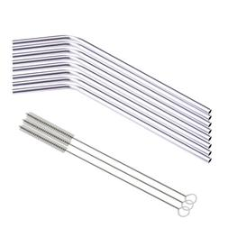 LtrottedJ 8 Pcs Stainless Steel Metal Drinking Straw, Reusab