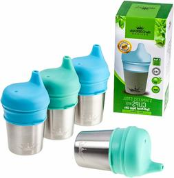 Stainless Steel Sippy Cup w/ Silicone Lids for Kids Toddlers