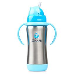 Stainless Steel Straw Top Bottle Set by Babalou Baby   304 S