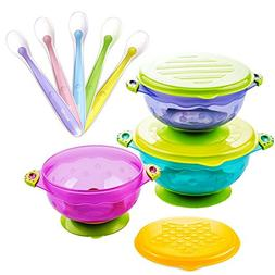 Stay Put Suction Bowl, Baby Bowls for Toddlers with Snap Tig