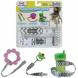 Stop The Dropsy 3-in-1 Pack for Sippy Cup, Pacifier, Toys