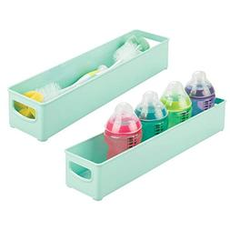 mDesign Plastic Storage Organizer Bin for Kitchen Cabinet, P