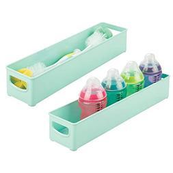 mDesign Plastic Storage Organizer Bin for Kitchen Cabinet, P