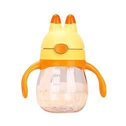 Timall Unisex Baby Straw Cups Cute Rabbit Learner Bottle Sip