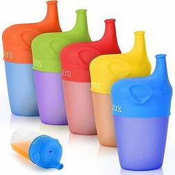 Stretchable Silicone Sippy Cup Lids 5 Pack Soft Spout BPA Fr