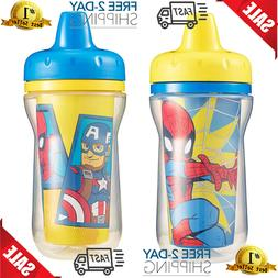 The First Years 2 Piece Insulated Sippy Cup Marvel