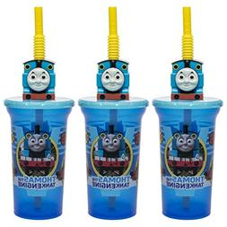 Zak!  Thomas The Tank Engine 15oz Sip Bottles With Straws BP