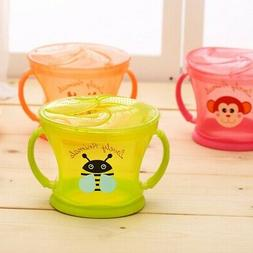 Toddler Baby Kids Anti-Spill Snack Candy Bowl Cup Milk Water