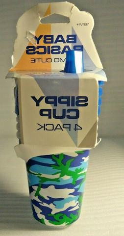 Toddler Boys Blue Camo 4 Pack Sippy Cups Baby Basics 18 Mont