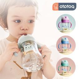 Baby Cup Toddler Feeding Cup Drinking Water Straw Bottle Sip