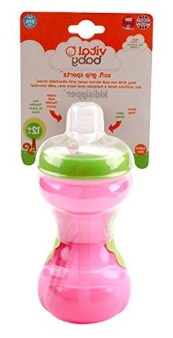Vital Baby Toddler Soft Grip Sportz Kiddisipper Cup, Pink